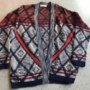 Urban Outfitters colorful knit cardigan size small